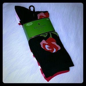 Kate spade black Rose socks